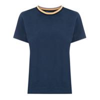 Le Lis Blanc T-Shirt Kimberly Gola Listrada - Azul