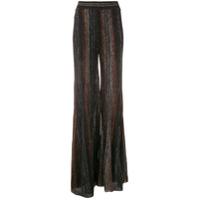 Bo.bô Calça Pantalona De Tricô - Preto
