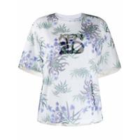 Kenzo Camiseta Sea Lily Com Sobreposição - Branco