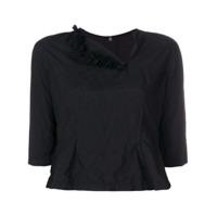 Comme Des Garçons Comme Des Garçons Blusa Cropped Assimétrica - Preto