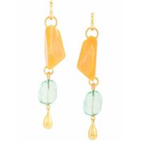 Lizzie Fortunato Jewels Par De Brincos Em Cascata - Amarelo