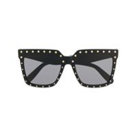 Celine Eyewear Óculos De Sol Oversized - Preto