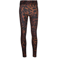Koral Legging Drive Com Animal Print - Marrom