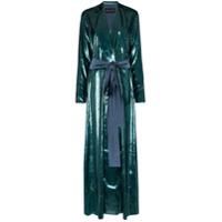 Michael Lo Sordo High-Shine Belted Blazer Maxi Dress - Azul