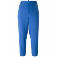 Dsquared2 Calça Cropped Com Passantes - Azul