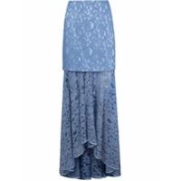 Martha Medeiros Saia Longa De Renda Francesa Marescot - Azul
