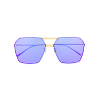 Bottega Veneta Eyewear Óculos De Sol Hexagonal Bv1045S - Dourado
