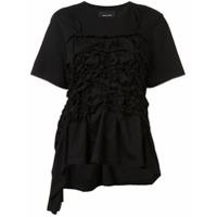 Simone Rocha Camiseta Assimétrica - Preto