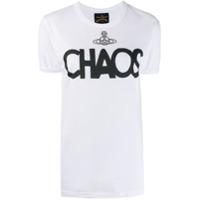 Vivienne Westwood Anglomania Camiseta Chaos Com Logo - Branco
