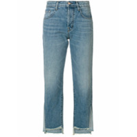 J Brand Calça Jeans Cropped Assimétrica - Azul