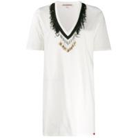 Giacobino Camisa Com Aplicações De Contas - Branco