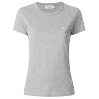 Maison Kitsuné Camiseta Com Logo E Bolso No Busto - Cinza