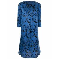 Knott Vestido Casual Com Estampa Floral - Azul