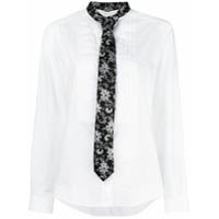 Dolce & Gabbana Camisa Com Gravata Bordada - Branco