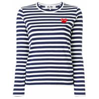 Comme Des Garçons Play Suéter Listrado - Azul