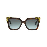 Fendi Eyewear Óculos De Sol 'can Eye' - Estampado