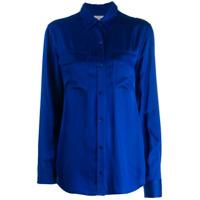 Equipment Satin Shirt - Azul