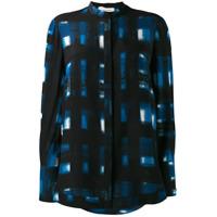 Alexander Mcqueen Camisa Mangas Longas Com Estampa - Azul