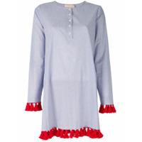 Tory Burch Camisa Com Acabamento Tassel - Azul