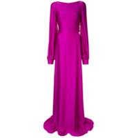 Safiyaa London Vestido Drapeado - Roxo