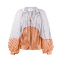 Atu Body Couture Jaqueta Bicolor Com Pregas - Laranja