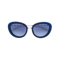 Elie Saab Óculos De Sol Oversized - Azul