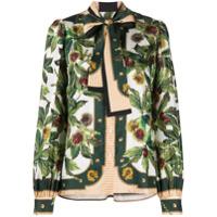 Dolce & Gabbana Blusa Com Estampa Floral - Verde
