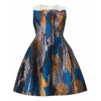 Marni Vestido evasê estampado - Azul