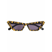 Chimi Óculos De Sol Gatinho Animal Print - Amarelo