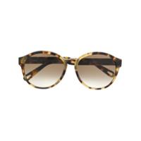Chloé Óculos De Sol Redondo Com Efeito Tartaruga - Marrom