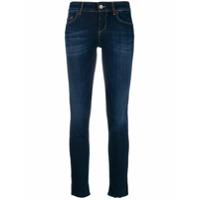 Liu Jo Calça Jeans Skinny Com Listras De Paetês - Azul