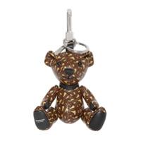 Burberry Chaveiro Thomas Bear Com Estampa Monogramada - Marrom