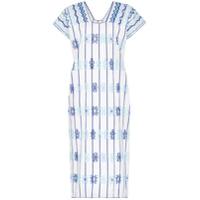 Pippa Holt Vestido Kaftan Com Bordado - Azul