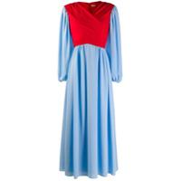 Emilia Wickstead Vestido Envelope - Azul