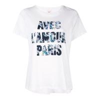 Cinq A Sept Camiseta Avec L'amour Paris - Branco