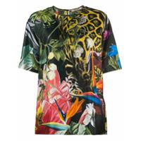 Roberto Cavalli Camiseta Com Estampa Tropical - Verde
