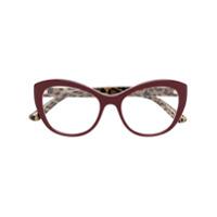 Dolce & Gabbana Eyewear Óculos De Grau Gatinho - Vermelho