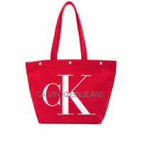 Ck Jeans Utility Tote Bag - Vermelho