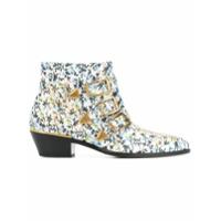 Chloé Ankle Boot 'susanna' De Couro Floral - Estampado