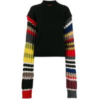 Colville Suéter Com Listras Nas Mangas - Preto