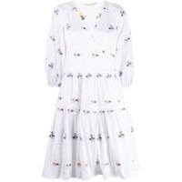 Cecilie Bahnsen Vestido Mirabelle Com Estampa Floral - Branco