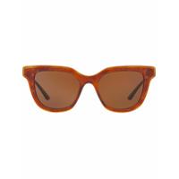 Dolce & Gabbana Eyewear Óculos De Sol Wayfarer Havana - Dourado