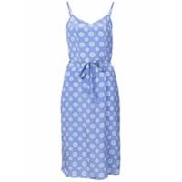 Hvn Slip Dress Floral - Azul