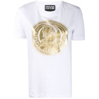 Versace Jeans Couture Camiseta Com Estampa De Moeda - Branco