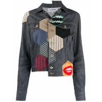 Loewe Patchwork Denim Jacket - Azul