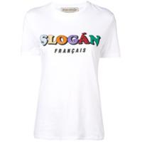 Être Cécile Camiseta Slogan Francais - Branco