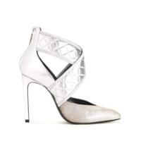 Lanvin Sapato De Couro - Metálico