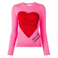 Giada Benincasa Suéter Com Patch Ciao Amore - Rosa