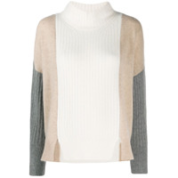 Max & Moi Colour-Block Knit Sweater - Branco