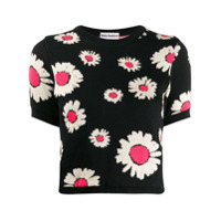 Molly Goddard Camiseta Daisy Com Estampa - Preto